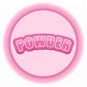 Label for powder. Bright premium design. Vector Illustration.
