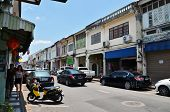Phuket, Thailand - April 15, 2014: Tourist Visit Old Building Chino Portuguese Style In Phuket