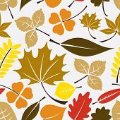Color Leaves Icon Seamless Pattern Eps10