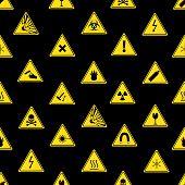 Danger Signs Types Seamless Pattern Eps10
