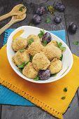 Plum Dumplings in bowl