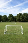 Mini Football Goal In Jesus College Cambridge University