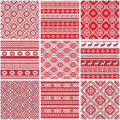 Vector set collections of ethnic patterns