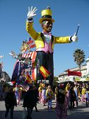 Viareggio, Italy - CIRCA FEBRUARY 2011 - USA President Barack Obama float from The Carnival of Viare