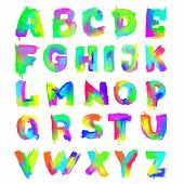 English Painted Alphabet