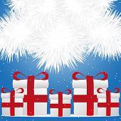 Presents Under Christmas Tree Snow