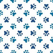 stock photo of animal footprint  - Animal footprint seamless pattern  - JPG