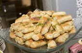 stock photo of phyllo dough  - the Arabic sweet food on the plait - JPG