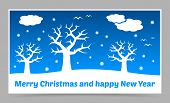 Vector Blue Christmas Card