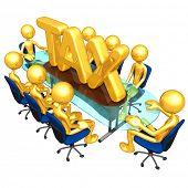 Gold Guys Tax Meeting Concept