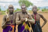 Unidentified Men From Mursi Tribe