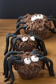 Chocolate Cupcake Spiders