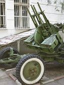 Russian Old Anti-aircraft Gun