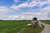 Water Container On Dutch Farmland