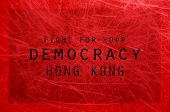 Fight For Democracy Hong Kong Poster