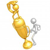 Kicking Yoga Competition Trophy