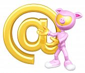 Mini Gold Guy Pig With Email