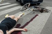 picture of blood drive  - Killing accident on the pedestrian crossing horizontal - JPG