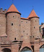 Barbican medieval city wall, Warsaw