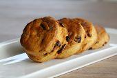 Raisins cream biscuits scones