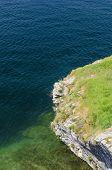 Rock above Lake Garda, Malcesine, Northern Italy