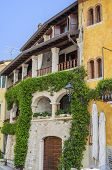 Old house in a small town near Lake Garda. Northern Italy