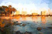 Tropical Autumn Sunset - Sarasota Bay