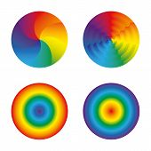 picture of transgendered  - Set of four circles colors of the rainbow - JPG