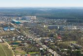 Aerial View Of A Russian Provincial Town
