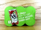 Six Pack Of V8 Juice Cans