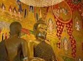 Buddha Image Closeup In Buddhism Temple