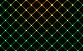 Dark Wired Fence Glowing Background