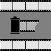 Camera Film Roll Icon.