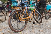 Bicycle At The Ice Ride 2014 In Milan, Italy