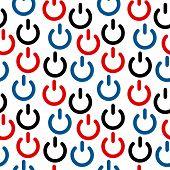 Power Icon Seamless Pattern