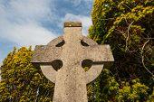 celtic cross cemetery background