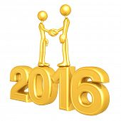 Gold Guy Business Handshake 2016