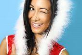 Santa girl smiling