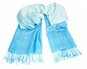 Cashmere scarf on white background