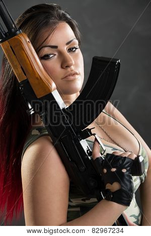 woman soldier Sexy