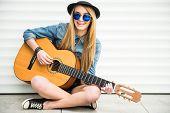 Girl With Gitar