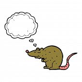 cartoon rat with thought bubble