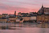 Stockholm Sodermalm at sunset.