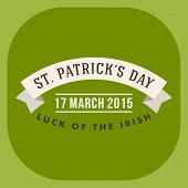 St. Patricks Day Card Design. Vintage Holiday Badge Design. Luck Of The Irish