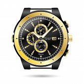 Vector Modern Realistic Luxury, Wrist Watch