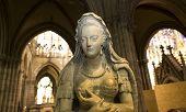 statue of queen Marie-Antoinette in  basilica of saint-denis