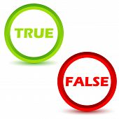 True false icons set