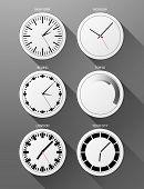 Vector Realistic Clock Icons