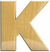 Wooden Letter K