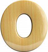 Wooden Number 0 - Zero